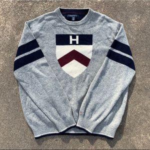Vintage 90's Tommy Hilfiger Wool Sweater Shield